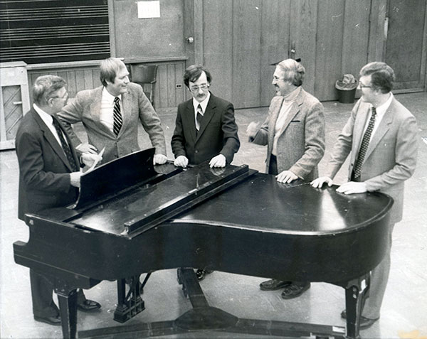 Press release photo announcing new music faculty